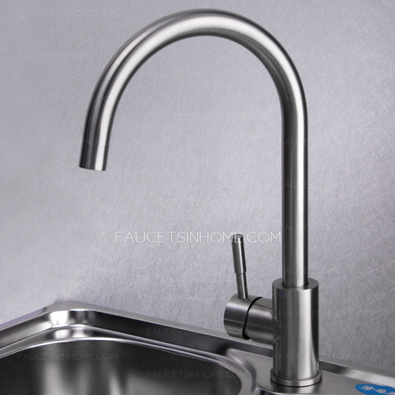 safe stainless steel brushed nickel kitchen faucets rotatable fth16813