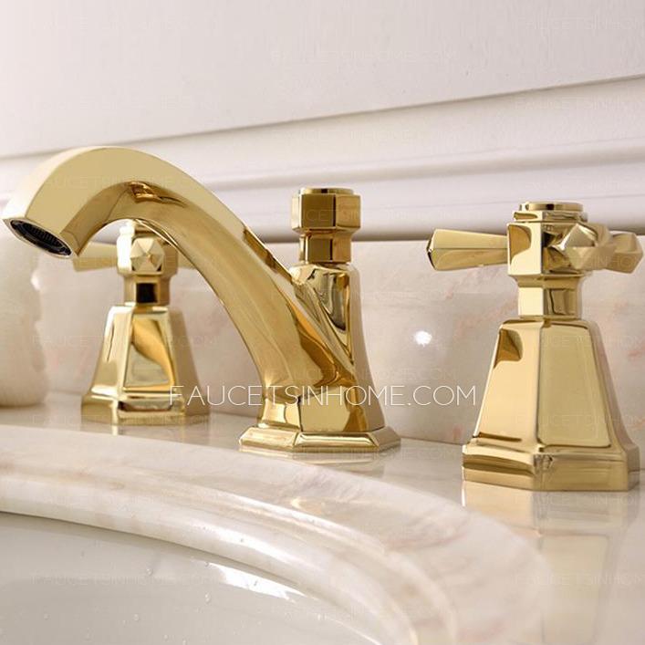 brass bathroom faucets widespread golden