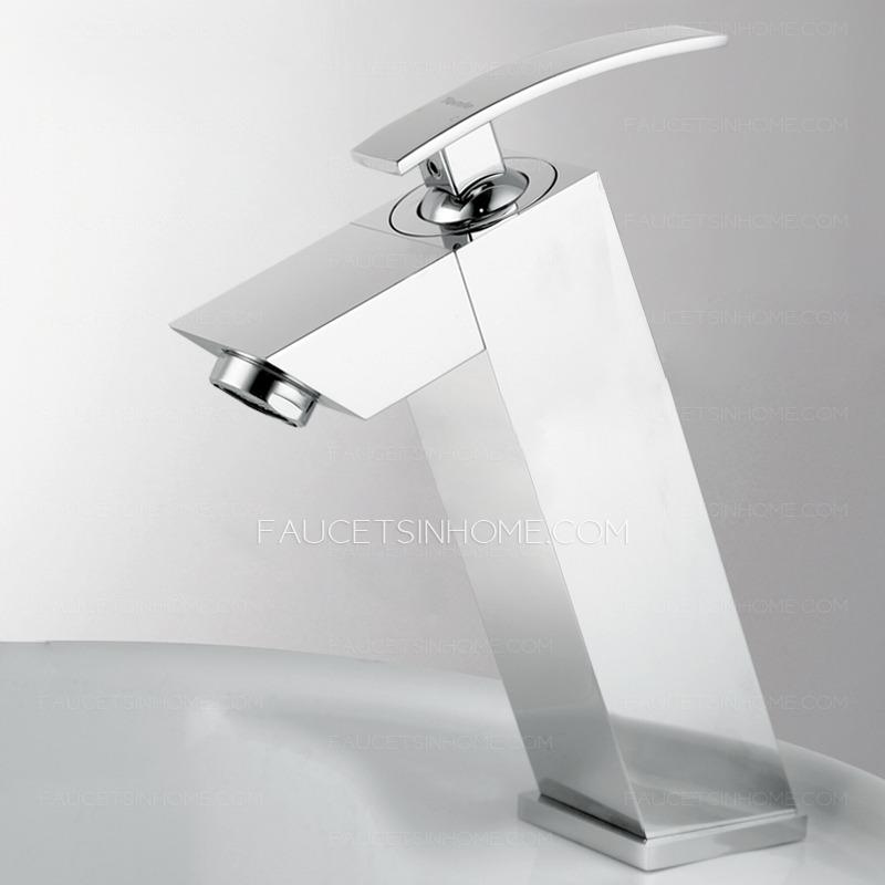 modern square shape top bathroom faucet brands