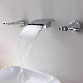 brass waterfall bathroom sink faucet wall mount t7010 t7010 123 99