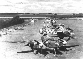 P 38 sur un terrain en Normandie (Google).