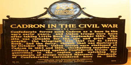 Cadron Civil War Marker, Faulkner County, Arkansas