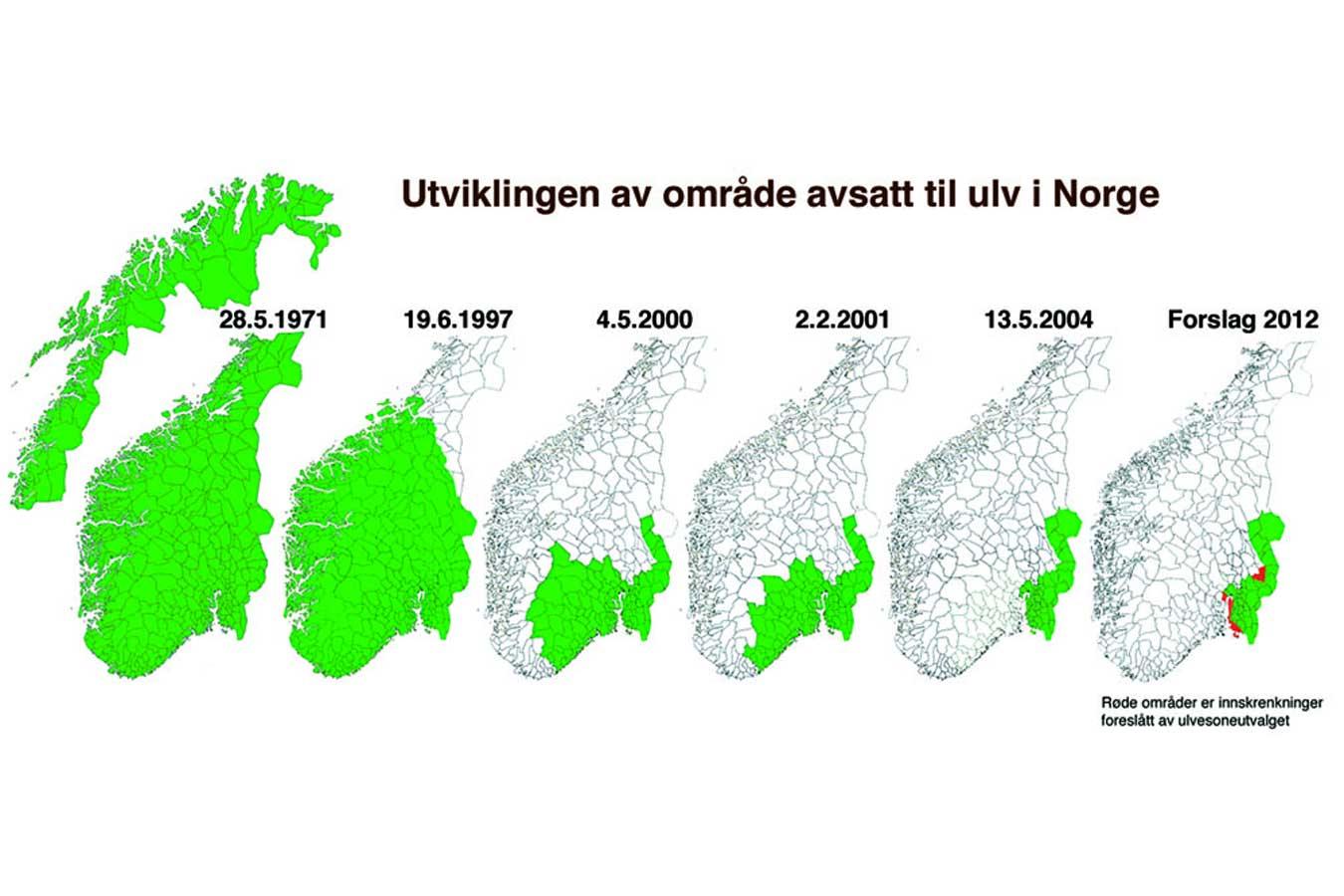 ulv i norge kart To ulver kan skytes utenfor ulvesonen | Fauna.no ulv i norge kart
