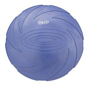 Frisbee pour Chien Petit et Moyen | Jouet en Caoutchouc Naturel Robuste | Disque Aérodynamique pour Jeux, Sport, Exercice, Activité et Jeu en Plein Air | Couleur Bleue Bien Visible des Chiens