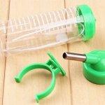 Toruiwa Hamster Bouteille d'eau Distributeur Eau biberon pour hamster rats gerbilles souris et autres petits animaux Vert 125ml