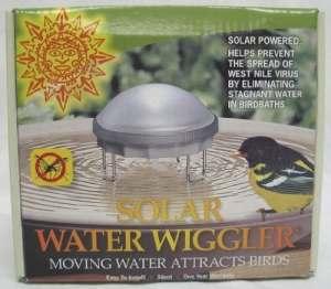 énergie Solaire l'eau Wiggler pour Bain d'oiseau