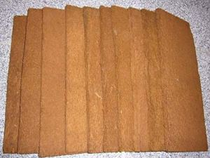 Bens Jungle Xaxim Set Comprenant 10 plaques de Polissage Xaxiales et 1 Panneau arrière 50 x 20 x 1,5 cm