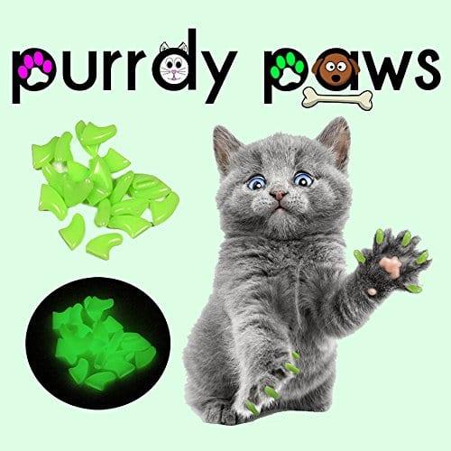 Purrdy Paws Doux Ongles Caps pour Chat Griffes Ultra Petite phosphorescents