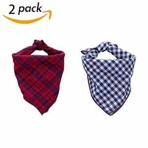 Scenereal Co. Bandana pour chien, motif écossais, accessoires pour chiens, de petite, moyenne et grande taille