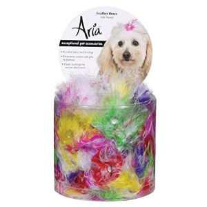 Aria Feather nœuds pour chiens, boîtes de 100