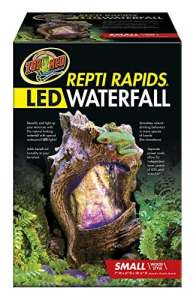 Cascade Repti Rapids Wood small avec LED – Zoomed