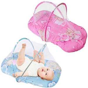 mark8shop New pliable bébé coton Matelas rembourré chaud taie d'oreiller Lit Moustiquaire Tente Berceau