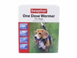 Beaphar Wormer à une dose pour chiens de taille moyenne 4 pack