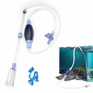 LINUK Siphons nettoyeurs de Gravier pour Aquarium Changement d'eau avec régulateur de débit d'eau réglable et Collier de Serrage (Version Mise à Niveau)