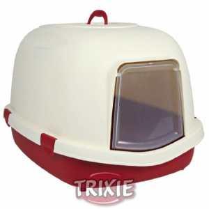 Trixie Primo chat Bac à litière avec poignée/rabat/, X-Large, 71x 56x 47cm, bordeaux/crème