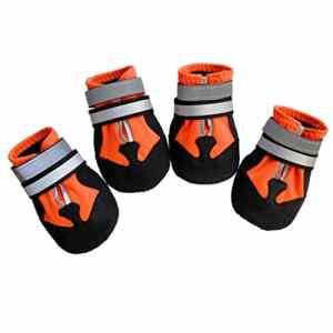 YUN MY GIRL Bottes de Protection pour Chien, Ensemble de 4 Chaussures de Chien imperméables pour Chiens Moyens et Grands – (5#) Chaussures de Protection pour Animaux de Plein air/protège-Pattes