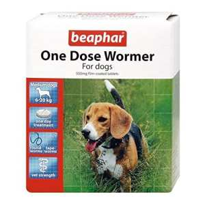 Beaphar Wormer à une dose pour chiens de taille moyenne 3 pack