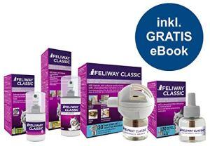Feliway Classic Kit Complet de démarrage + Recharge + Spray 60 ML + Vaporisateur + Spray 20 ML + Guide de Chat Chat Animal de Compagnie Compagnie 24