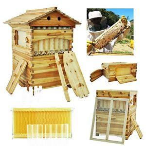 MUKEZON Miel Keeper Beehive 7X Cadre de Ruche à Miel + nichoir en Bois de cèdre