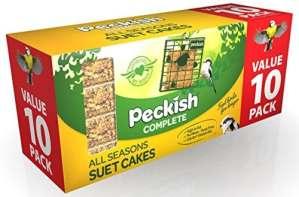 Peckish complète Bloc de gâteau de suif Oiseaux Sauvages Complet Toute Saison Pack of 10 Red/Purple/Brown