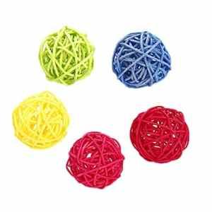 Rawuin. Lot de 5 balles colorées à mastiquer pour Animal Domestique et Chat