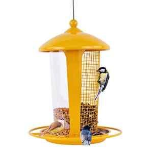 Sungmor extérieur à Suspendre pour Oiseaux avec Plusieurs Forme Motif Yellow (21x21x27cm)