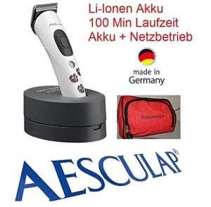 AESCULAP Rotschopf24 Edition GT405 Akkurata Tondeuse rechargeable pour animaux Accu lithium-ion Fonctionne sur secteur ou batterie ! + sac