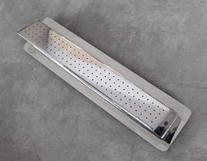 CASCADES-INOX Lame d'eau Bec Verseur Pluie Largeur 50cm / Embase Murale : 56cm par 13cm