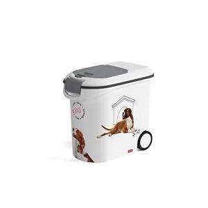 Curver Conteneur À Croquettes 12kg pour Chien Blanc Blanc/Chien