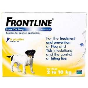 Frontline Spot On traitement pour petits chiens 6 pièces contre les tiques et les puces
