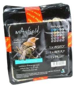 Mayfield Suet Tray Triple Wild Bird Treat 3xsgl