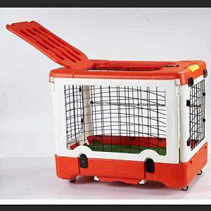MFZJ Chenil en Acier Inoxydable réalisant Une capacité de Charge Forte et Pliable Cage Pliante pour Chien, Animal de Compagnie + Toilet91 * 61 * 71Cm