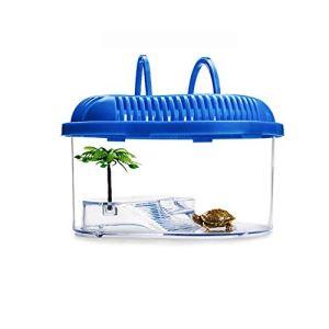 QNMM Petit Aquarium Box boîte d'élevage de Tortues avec Plateau de séchage pour Tortues,S