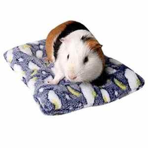 ZYUEER Lit pour Cochon d'Inde Hiver Cage, Hamster Mat Lavable Hérisson avec Tapis de lit (25x32cm, Navy)