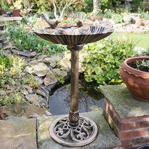 Kingfisher Plastique Bain d'oiseaux Effet Bronze