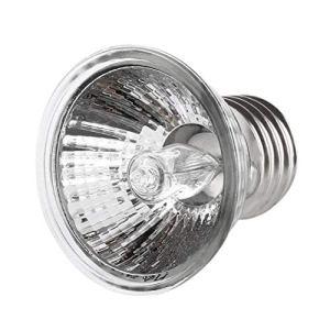 LouiseEvel215 50WTurtle Drapant Lampe UV E27 Amphibiens Lézards Lampe Chauffante Portable Lampe À Spectre Complet De Reptiles