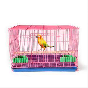 Yorkmoon décoratif Oiseau en métal Cage Starling Pigeon Perroquet 48x33x32cm Rose