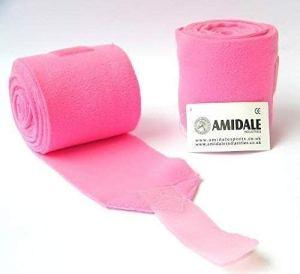Amidale Enveloppements Polo Molletonnés Stables Bandages Cheval Équestre Enveloppements De Jambe Ensemble De 4 Taille Unique – translation, original, Rose