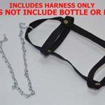 Votre Happy Poussins à Suspendre Mangeoire Harnais 1 QT. Black Harness with Waterer Base