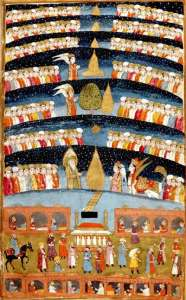 """Muhammed's Paradise"" showing seven heavens."