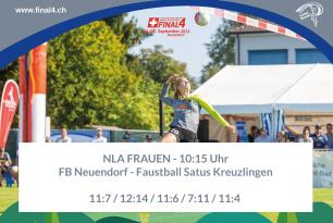 Faustball Final4 2021: Neuendorf gewinnt die Bronzemedaille in fünf Sätzen gegen Kreuzlingen – 3:2 (11:7 / 12:14 / 11:6 / 7:11 / 11:4)
