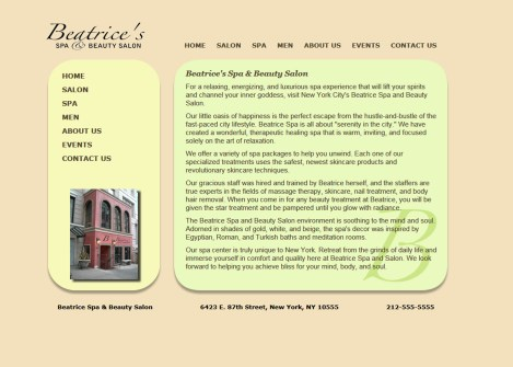 Beatrice Salon Redesign | westchester ny web design
