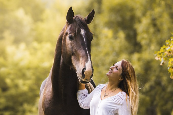 portrait cheval et cavalier nature