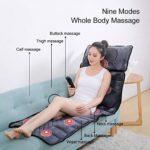 ASDYY Full Body Massage Mat, Coussin de Massage Thermique avec 10 Vibration Motors, Retour Fauteuil de Massage Pad pour Cou, Dos, Taille, Jambes soulagement de la Douleur