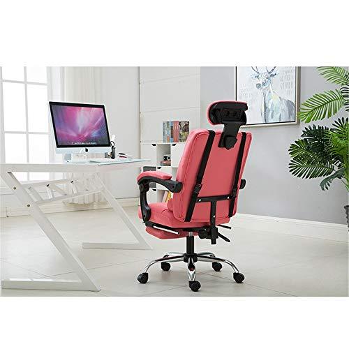 Jianghuayunchuanri Chaise de Bureau d'ordinateur Chaise Informatique Chaise électronique Sport Fauteuil de Bureau Ergonomique Reclining Levage Fauteuil de Massage pivotant pour Office