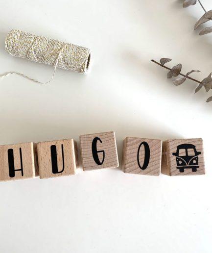 cube en bois prénom bébé