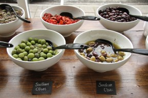 Help yourself at the olive bar