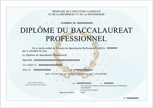 Faux Bac Pro Faux Diplome