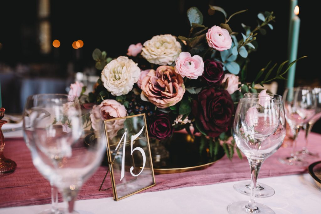 Flower hire essex wedding event table display