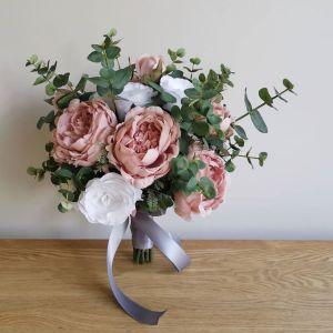 blush ivory wedding brides bouquet